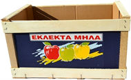 Wooden box with carton tile (Maxpack), net weight 10 kg for delivery of apples in bulk
